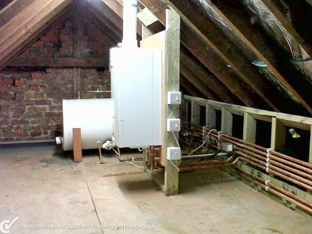 Boiler Installation in Loft