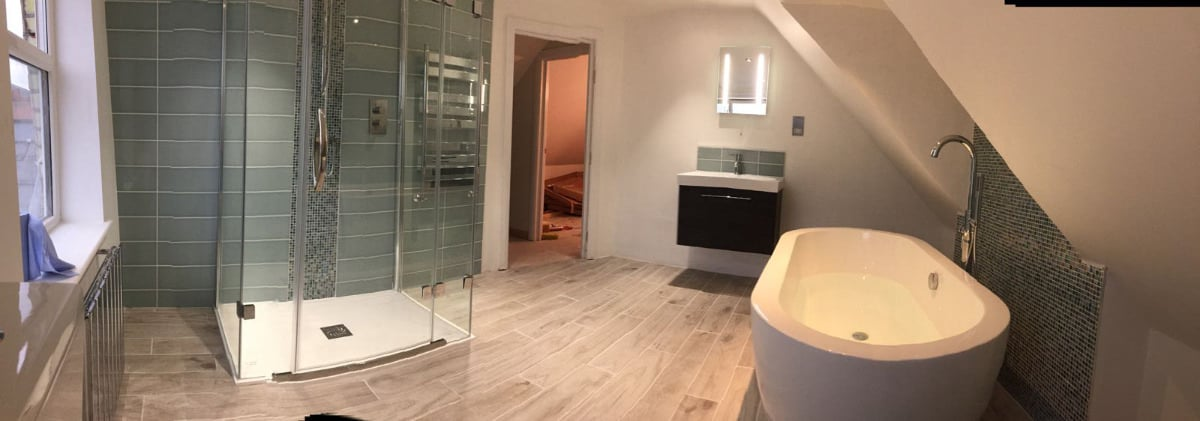Full view of new bathroom