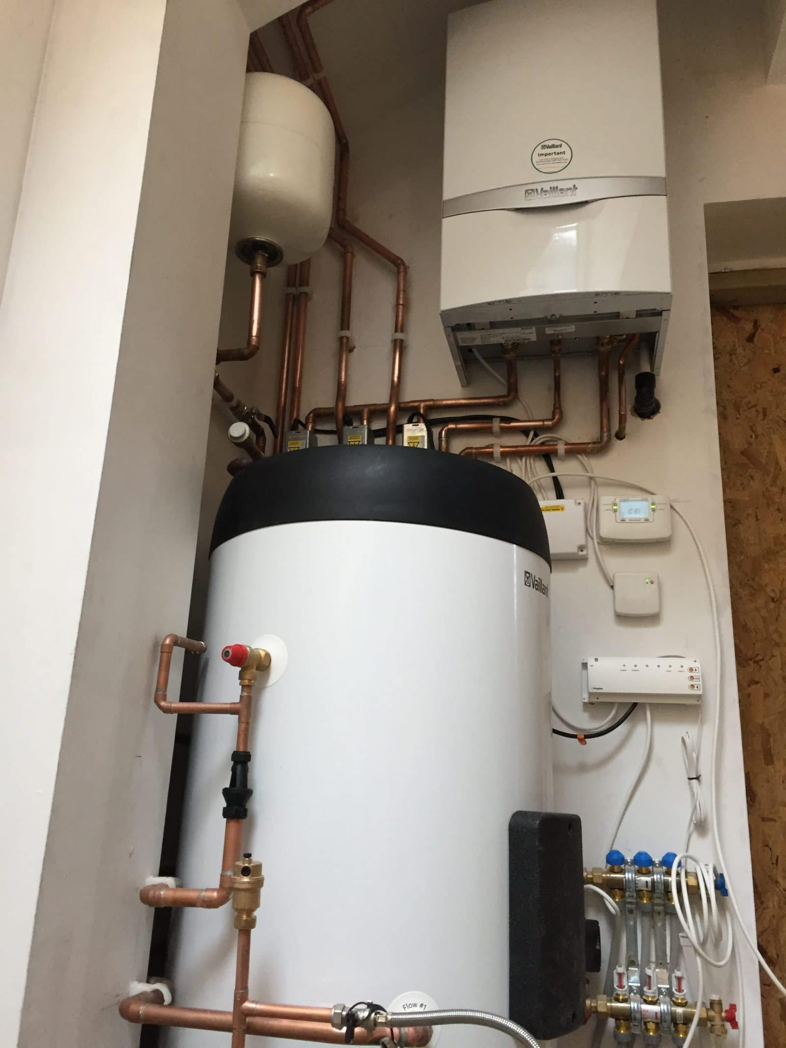 Hot Water Cylinder and boiler