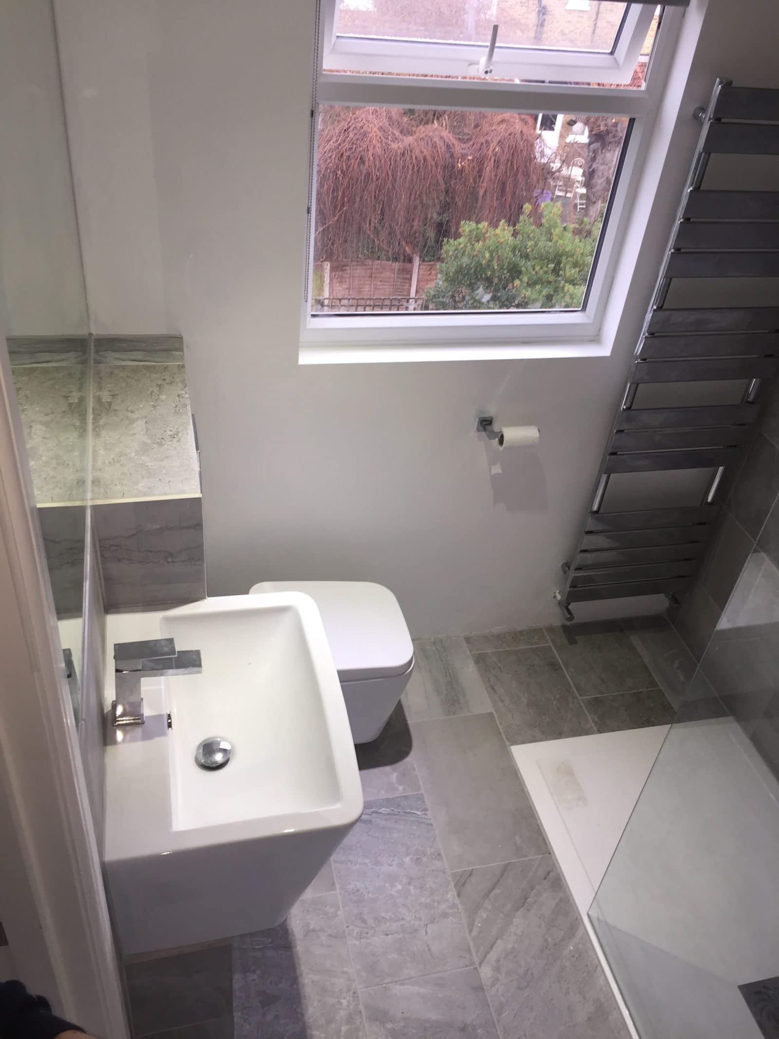 Bathroom view from above